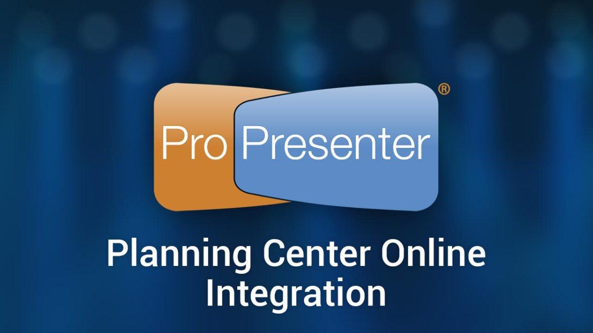 Planning center online integration in propresenter 6 church media drop freerunsca Images
