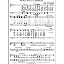 Are you washed in the blood Sheet Music (SATB) with Practice Music tracks. Make unlimited copies of sheet music and the practice music.