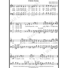 Christ Arose Sheet Music (SATB) with Practice Music tracks. Make unlimited copies of sheet music and the practice music.