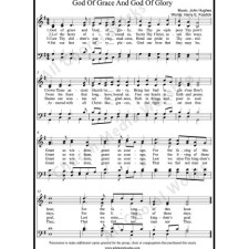 God of grace and God of glory Sheet Music (SATB) with Practice Music tracks. Make unlimited copies of sheet music and the practice music.