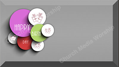Happy Birthday Screen grey stone Christian Worship Background. High quality worship images for use to spread the Gospel and enhance the worship experience.