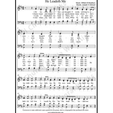 He Leadeth Me Sheet Music (SATB) with Practice Music tracks. Make unlimited copies of sheet music and the practice music.