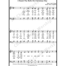 I Heard the Bells On Christmas Day Sheet Music (SATB) with Practice Music tracks. Make unlimited copies of sheet music and the practice music.