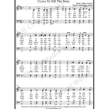 I love to tell the story Sheet Music (SATB) with Practice Music tracks. Make unlimited copies of sheet music and the practice music.