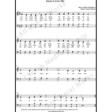 Jesus loves me Sheet Music (SATB) with Practice Music tracks. Make unlimited copies of sheet music and the practice music.