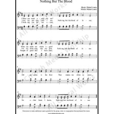 Nothing but the blood Sheet Music (SATB) with Practice Music tracks. Make unlimited copies of sheet music and the practice music.