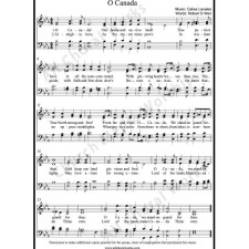O Canada Sheet Music (SATB) with Practice Music tracks. Make unlimited copies of sheet music and the practice music.