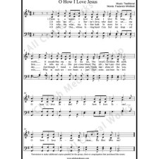 O how I love Jesus Sheet Music (SATB) with Practice Music tracks. Make unlimited copies of sheet music and the practice music.