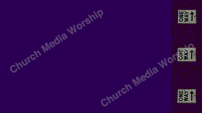 One Way arrows Purple Purple Christian Worship Background. High quality worship images for use to spread the Gospel and enhance the worship experience.