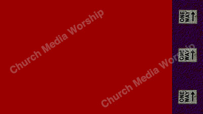 One Way arrows Red Purple Christian Worship Background. High quality worship images for use to spread the Gospel and enhance the worship experience.