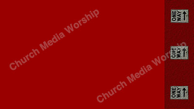 One Way arrows Red Red Christian Worship Background. High quality worship images for use to spread the Gospel and enhance the worship experience.