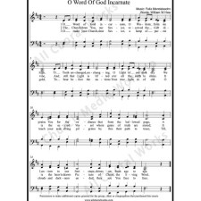 O word of God incarnate Sheet Music (SATB) with Practice Music tracks. Make unlimited copies of sheet music and the practice music.