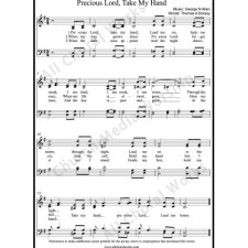 Precious Lord Take My Hand Sheet Music (SATB) with Practice Music tracks. Make unlimited copies of sheet music and the practice music.