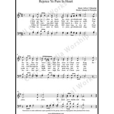 Rejoice Ye pure in heart Sheet Music (SATB) with Practice Music tracks. Make unlimited copies of sheet music and the practice music.