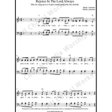Rejoice in the Lord always Sheet Music (SATB) with Practice Music tracks. Make unlimited copies of sheet music and the practice music.
