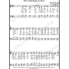 We're marching to Zion Sheet Music (SATB) with Practice Music tracks. Make unlimited copies of sheet music and the practice music.