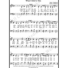 What Child is This Sheet Music (SATB) with Practice Music tracks. Make unlimited copies of sheet music and the practice music.