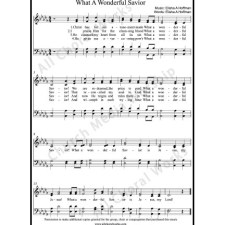 What a wonderful savior Sheet Music (SATB) with Practice Music tracks. Make unlimited copies of sheet music and the practice music.