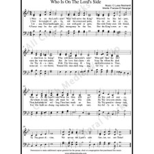 Who is on the Lords side Sheet Music (SATB) with Practice Music tracks. Make unlimited copies of sheet music and the practice music.