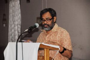 Mr. Jones Loton Roy during his speech