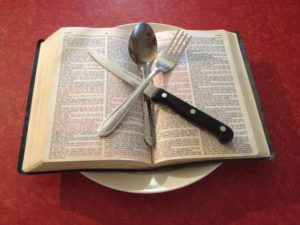 Fasting_eating_Bible_on_plate_w_silverware
