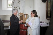 Avril Howe and the Reverend Elaine Murray