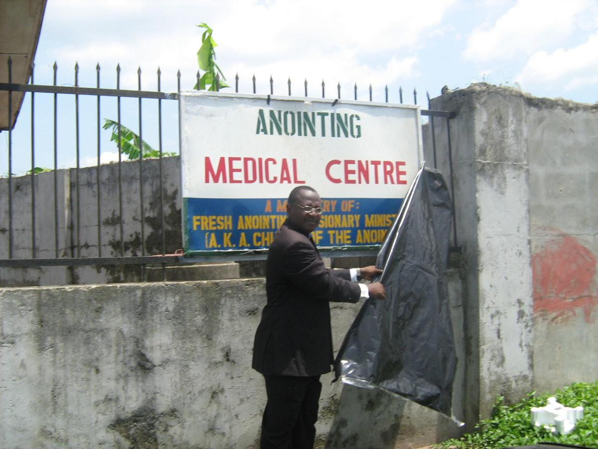 Rev Francis Waive unveiling the clinic name