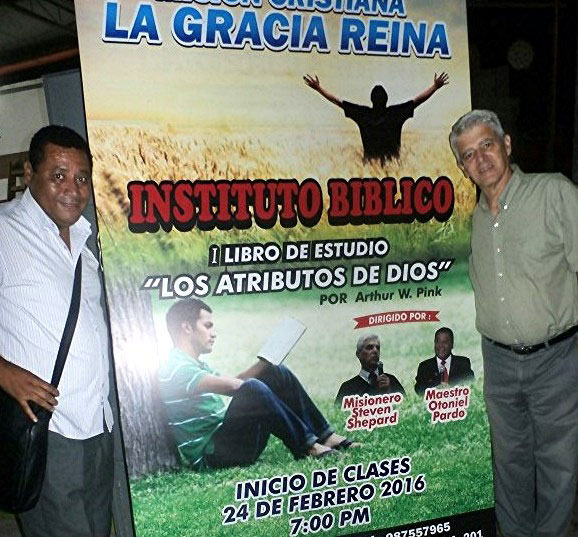 Pastor Otoniel Pardo and Steven Shepard