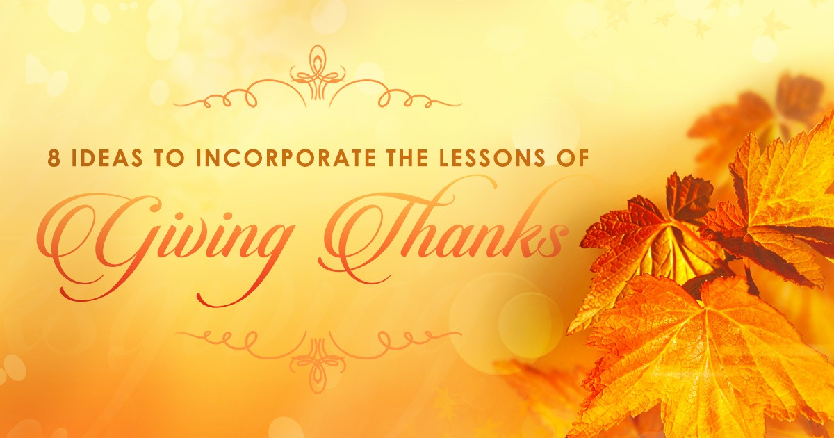 Giving Thanks Lessons