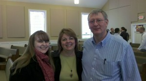 Laura, Tammy, and Dan at Lookout Valley Baptist