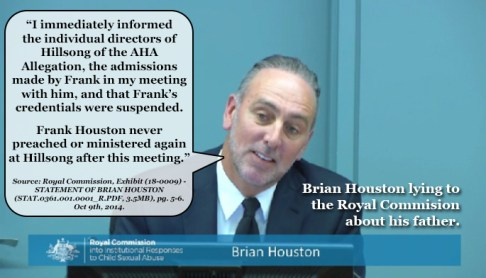 Brian Houston Lying to Royal Commission1