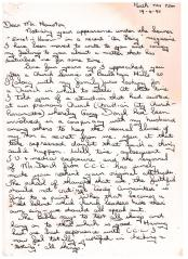Letter to Brian Houston 1992 Page 1