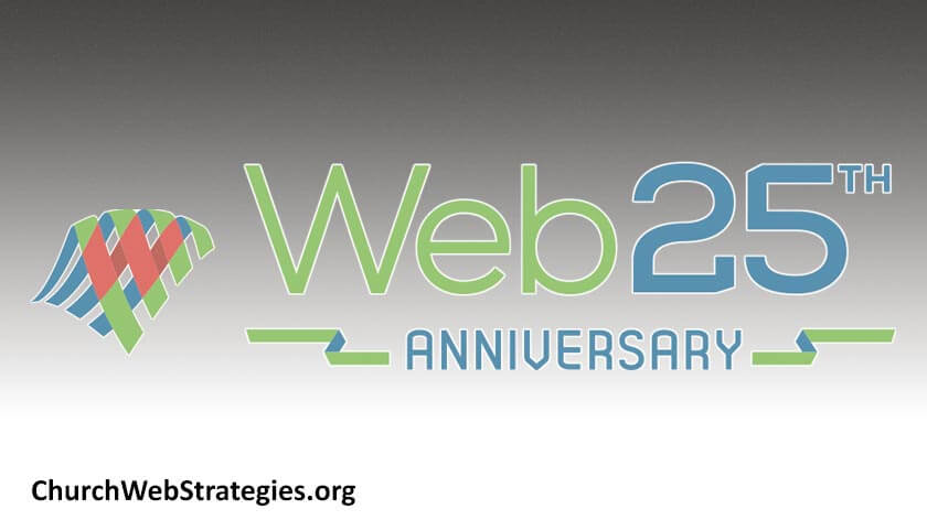 """Web 25th Anniversary"" logo"