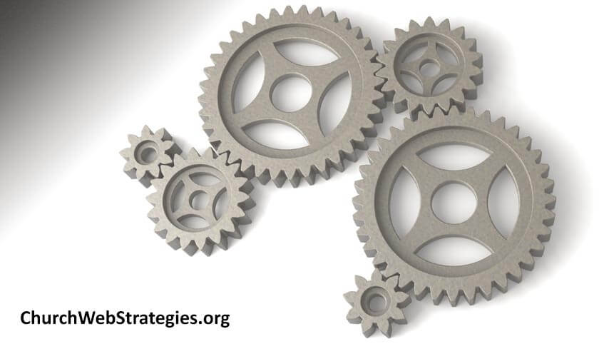 interlocking gears laying on a table