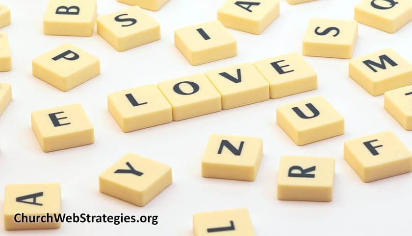Letter tiles spelling Love