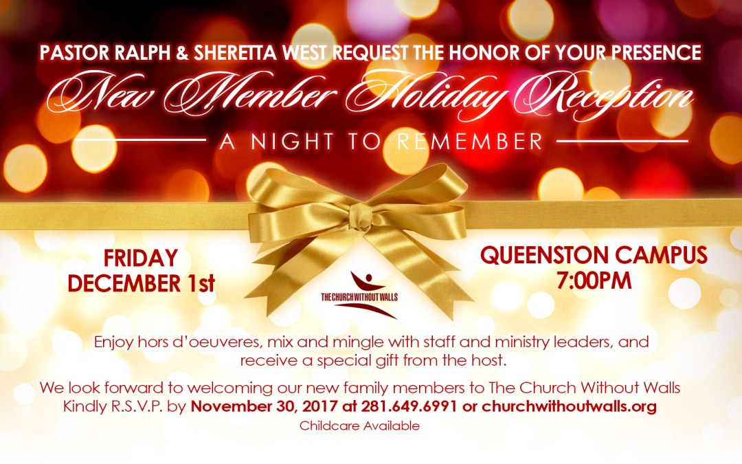New Members' Reception – RSVP Today!