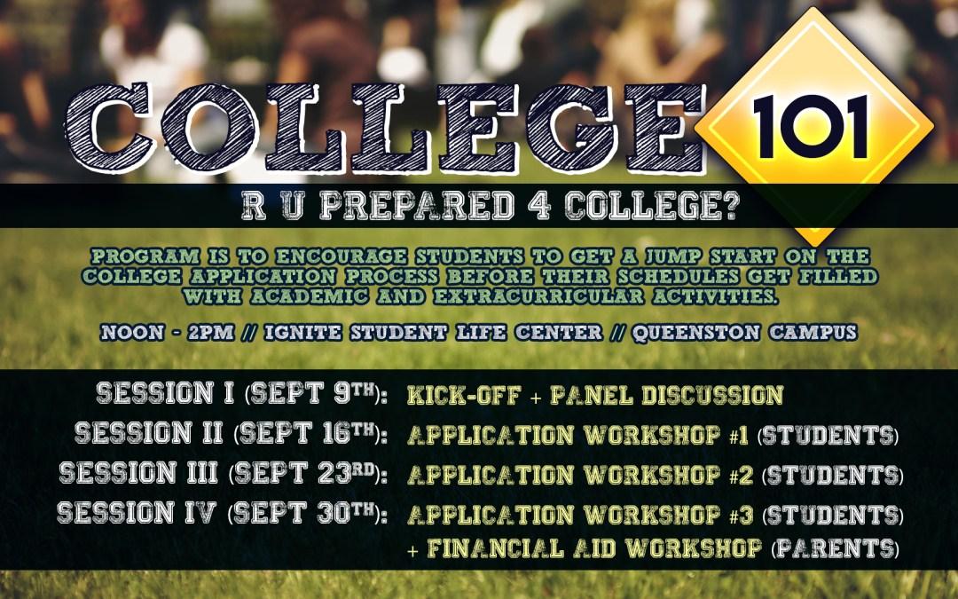 College 101 – R U Prepared for College?