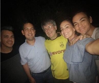 Maga y Hermanos Páez con Don Páez