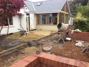 Levelling and stabilisation prior to paving.