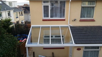 UPVC Porch cover installed.