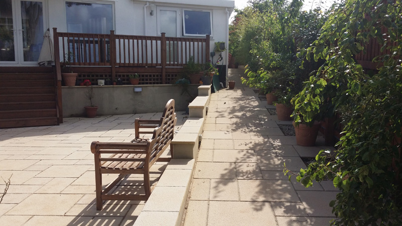 Landscaping and extension Brixham 23
