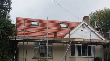 Roof completed.