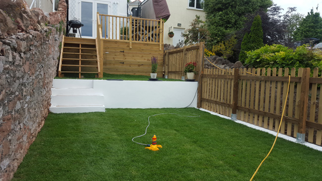Torbay Builder Garden Renovation 1