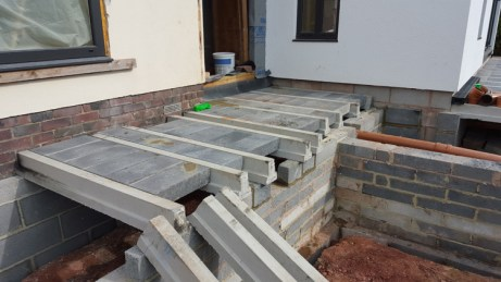 verandah, flagstones and decorative walling