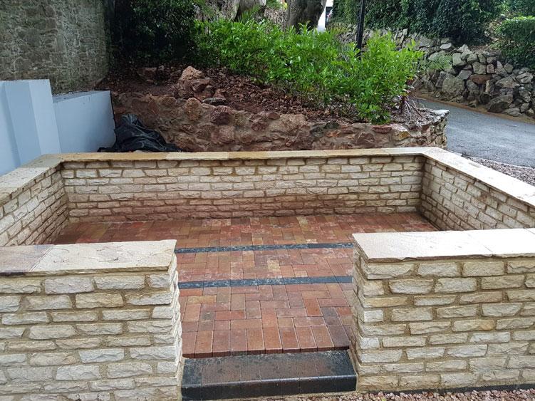 Churston Builders - Decorative garden Orangery structure base 3