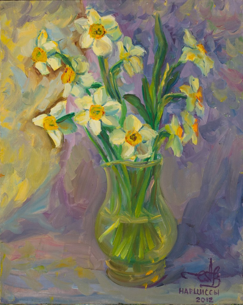 Daffodils 2012 oil on canvas 45*60