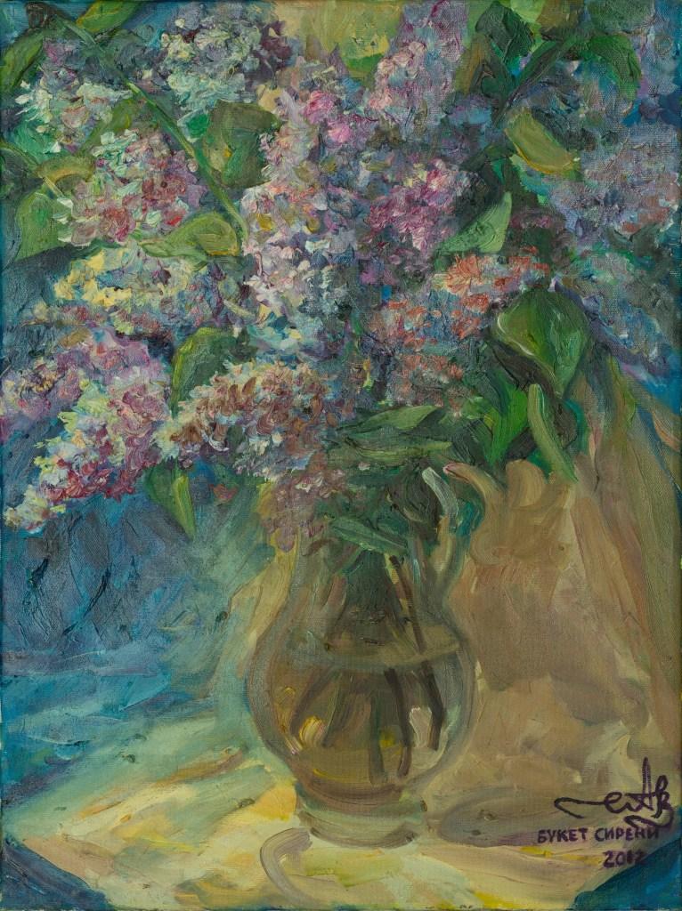 lilac Bouquet 2012 oil on canvas 45*60