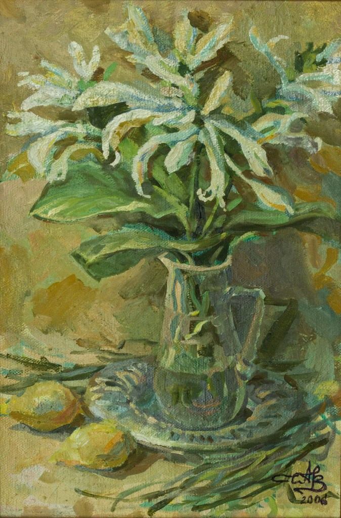 Lilies 2006 oil on canvas 39,5*59,5
