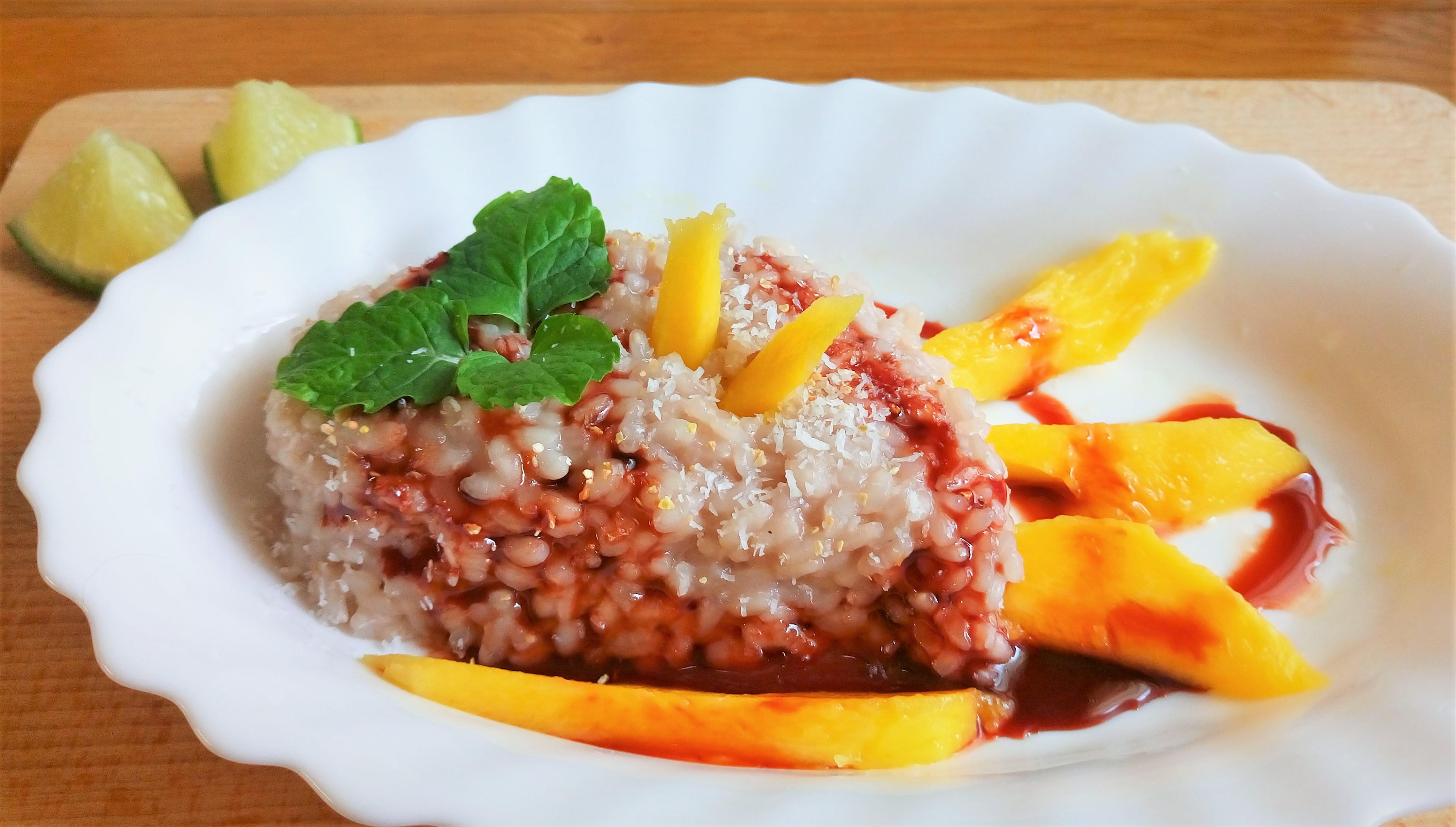 Mango s ryžou na sladko (takmer sticky rice :-) )