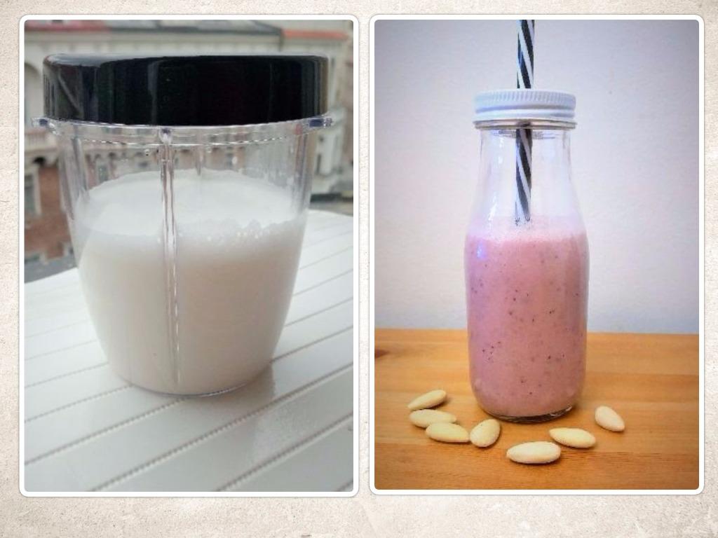 RECEPTY mandľové mlieko a mandľové smoothie